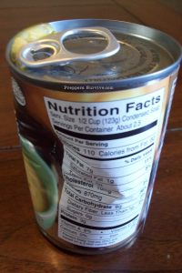 Dented Canned Food