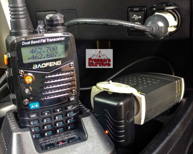 Recharge a Ham Radio - Car Power Inverter