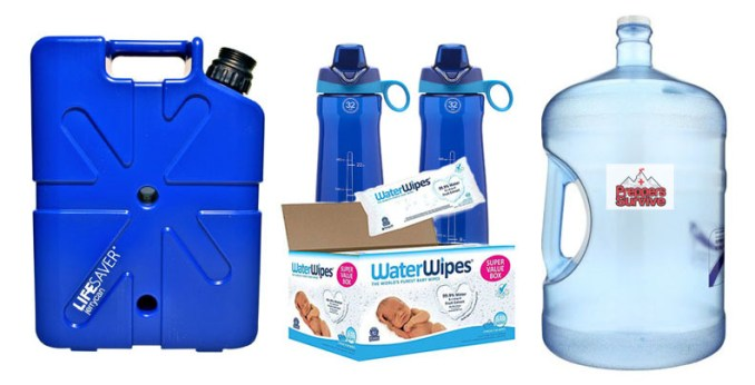 Hurricane Water Supplies - emergency prep list
