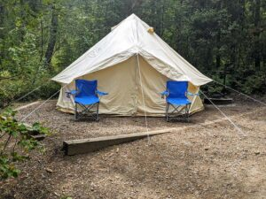 Canvas Tent Shelter - Yukon Bell Tent Review – Elk Mountain Tents