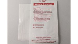 Small First Aid Kit consists of wound closures