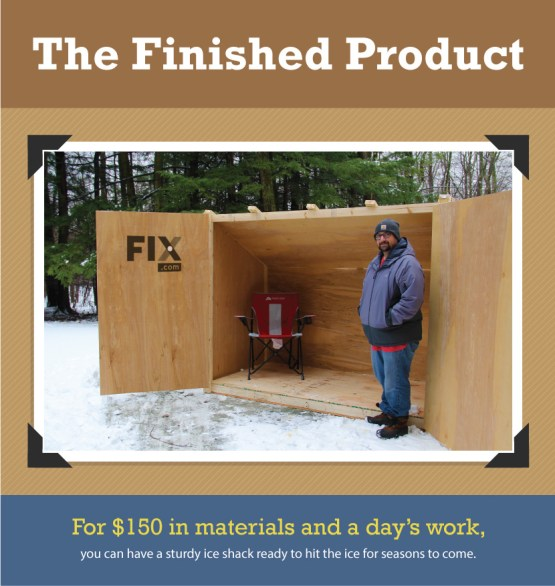 Build a diy ice fishing shelter on a budget prepper universe for How to build a small shack