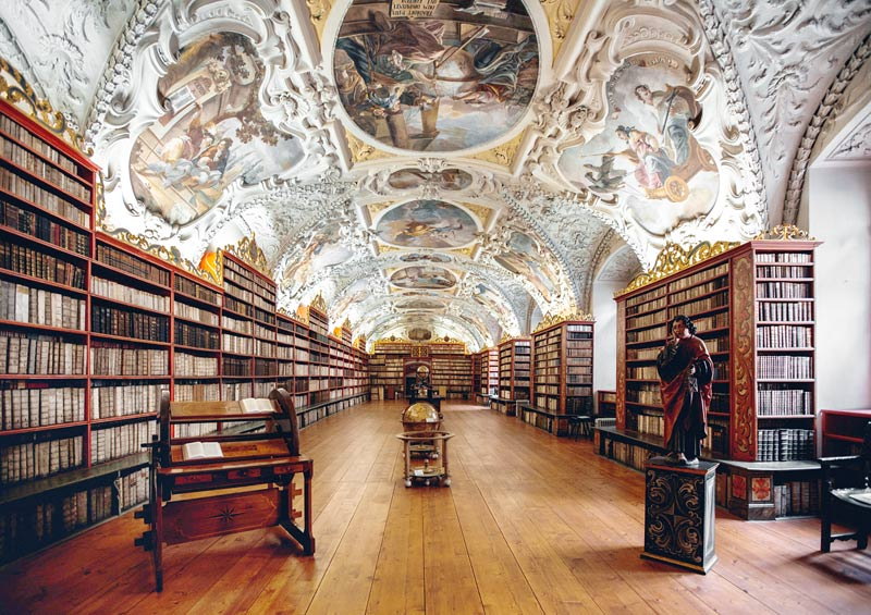 Pictures of various libraries around the world