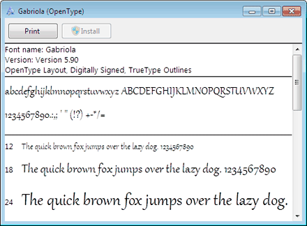Windows 7  fonts
