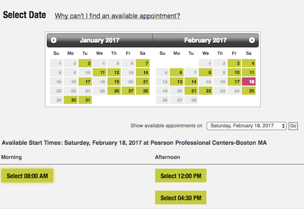 gmat test dates