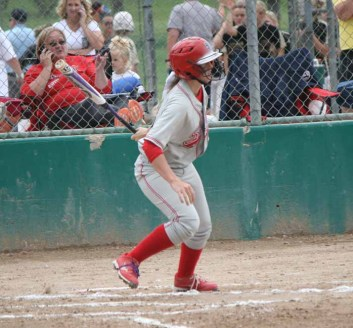 Cheyenne Pratt hit the walk-off state championship winning home run for Spanish Fork. (Photo by Kurt Johnson)