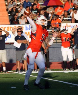 Quarterback Kahi Neves had a huge day as Timpview took care of Alta. (Photo by Kurt Johnson)
