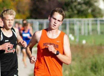Mountain Crest runner Hayden Ewer is nearly deaf.