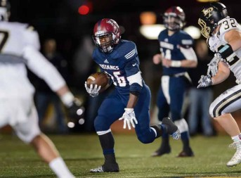 Herriman's Jake Jutkins provides part of the Mustangs multi-back system. (Photo by Dave Argyle, dbaphotography.com)