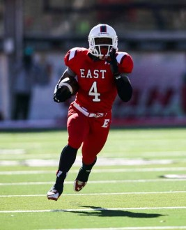 East quarterback Johnnie Lang is an explosive offensive star. (Photo by Kevin McInnis)