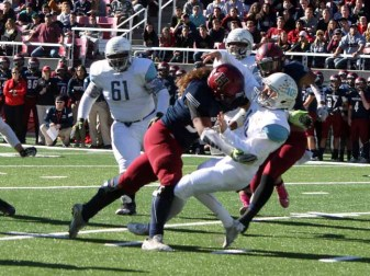 Leki Fotu is a vicious pass rusher from Herriman that will play at Utah. (Photo by Kurt Johnson)
