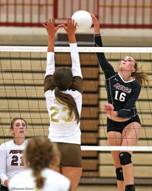 Rachel is the hitter in Northridge's Parson family. (Photo by Tom Smart, DeseretNews.com)