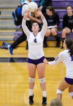 Setter Rachel Richards spreads the hitting opportunities around for Lehi. (Photo by Dave Argyle, dbaphotography.com)