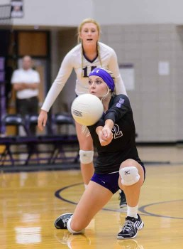Sydney White keeps things in play for Lehi from the libero position. (Photo by Dave Argyle, dbaphotography.com)