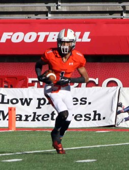 Samson Nacua is a dynamic offensive playmaker for Timpview. (Photo by Kurt Johnson)