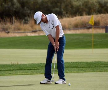 Corner Canyon senior Rhett Rasmussen won the 4A state golf title in 2015. (Photo by Kurt Johnson)