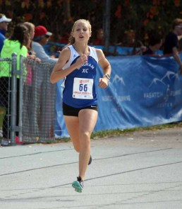 Bingham's Whitney Rich was third at the 2015 state cross country meet. (Photo by Kurt Johnson)