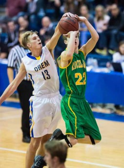 Orem's Will Clark blocks a shot during last year's shootout. (Photo by Dave Argyle, dbaphotography.com)