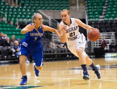 Lexi Eaton is among the top 10 scorers in the nation this year at BYU. (Photo by Mark A. Philbrick, BYU Photo)