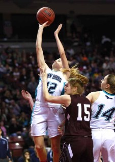 Becca Curran of Juan Diego gets to the rim during the 2015 state title game. (Photo by Shane Marshall)