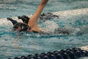 Park City sophomore Sienna Senn  won a pair of freestyle state swimming titles. (Photo by Ari Davis)