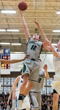 17 rebounds by Stockton Shorts helped Copper Hills knock off Lone Peak. (Photo by Dave Argyle, dbaphotography.com)
