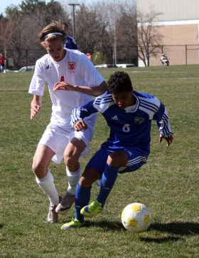 Junior forward Isaiah Cardosa was the other goal scorer for Bingham. (Photo by Kurt Johnson)