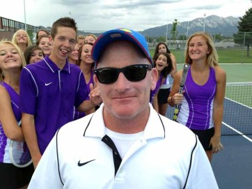 Lehi tennis coach Alan Wofford has been on the job for 25 years.