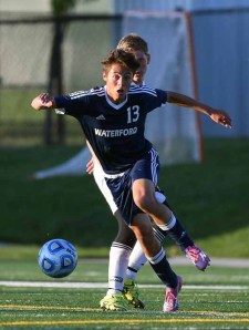 Cale Lopez led Waterford to the 2A state soccer title. (Photo by Dave Argyle, dbaphotography.com)
