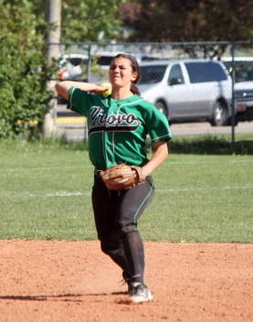 Kacie Allman was back playing shortstop for her senior year at Provo. (Photo by Kurt Johnson)
