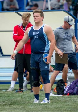 Talin Mortensen has one more year to set a state record in shot put. (Photo by Jeff Porcaro, MapleMountainSports.com)