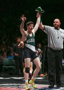 Matt Lee of South Summit after his 2015 state title win. (Photo by Shane Marshall)