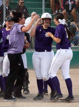 Taylor Eakle homers on back-to-back days helped Riverton claim its softball title. (Photo by Kurt Johnson)