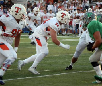 Timpview defensive line star Jackson Cravens continues to dominate. (Photo by Kurt Johnson)