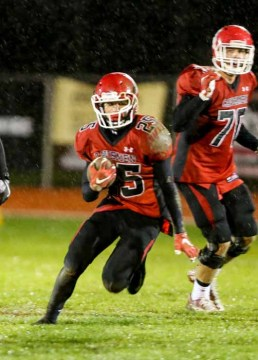 Samuel Walker emerged as a huge additional option in the ground game for American Fork. (Photo by Kevin McInnis)