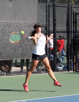 Whitney Turley of Davis won her fourth straight state tennis title. (Photo by Kurt Johnson)