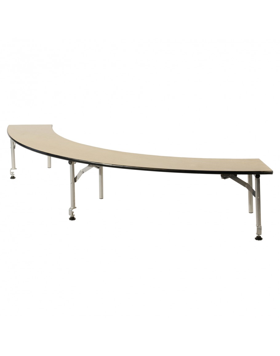 Serpentine Portable Wood Bar Top Riser, Metal Edging