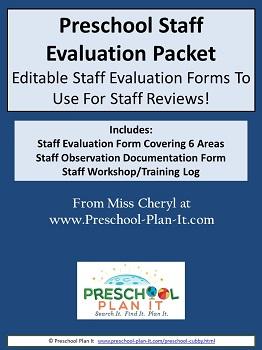 Preschool Teacher Evaluation