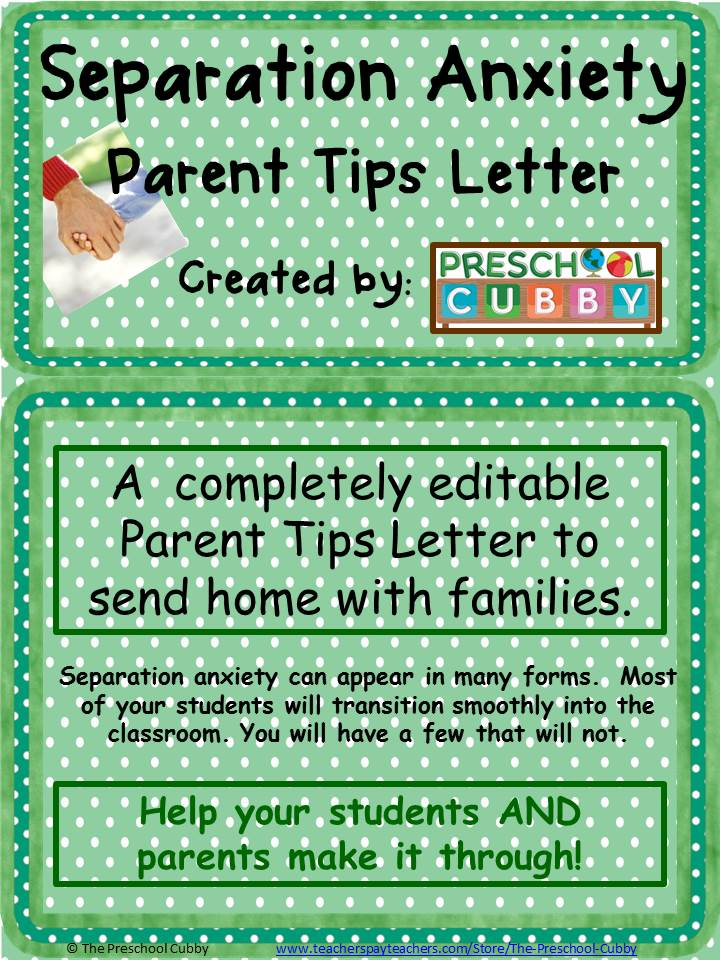 Separation Anxiety in Preschoolers