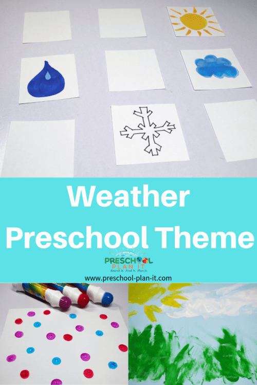 small resolution of Weather Theme for Preschool