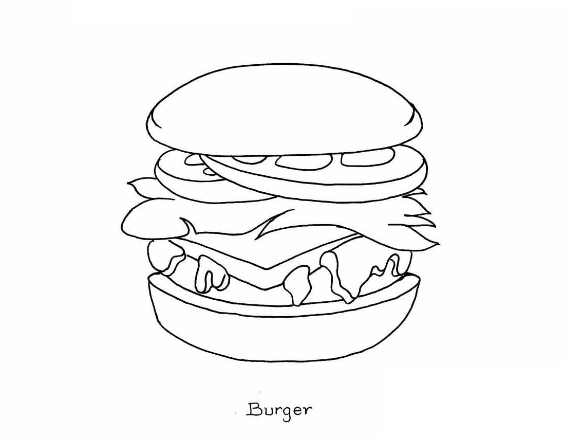 Food And Meals Coloring Pages