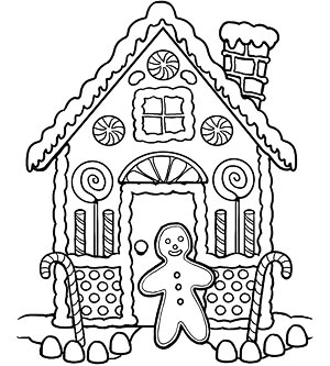 Open Oven Gingerbread Coloring Page Coloring Pages