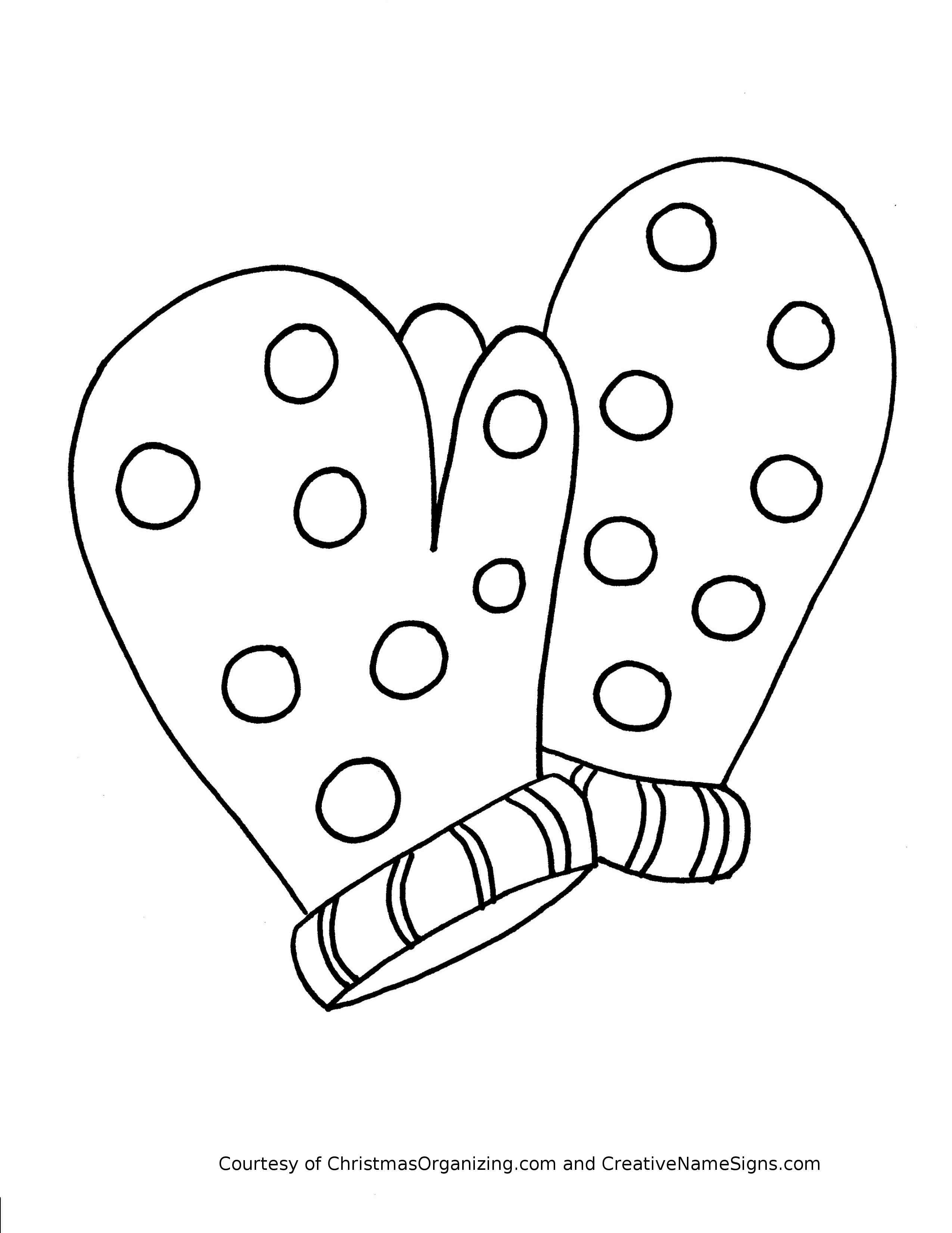 Hat And Mittens Coloring Page