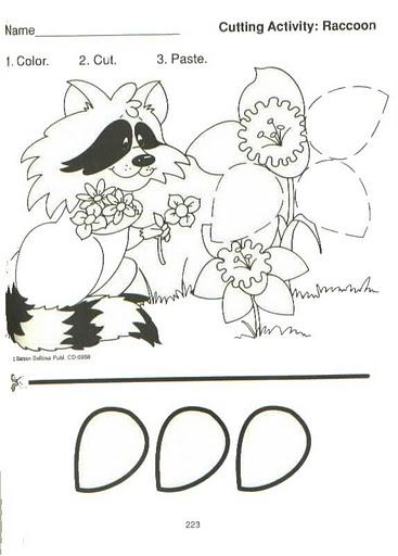Raccoon Worksheets Preschool Cutting Practice. Raccoon