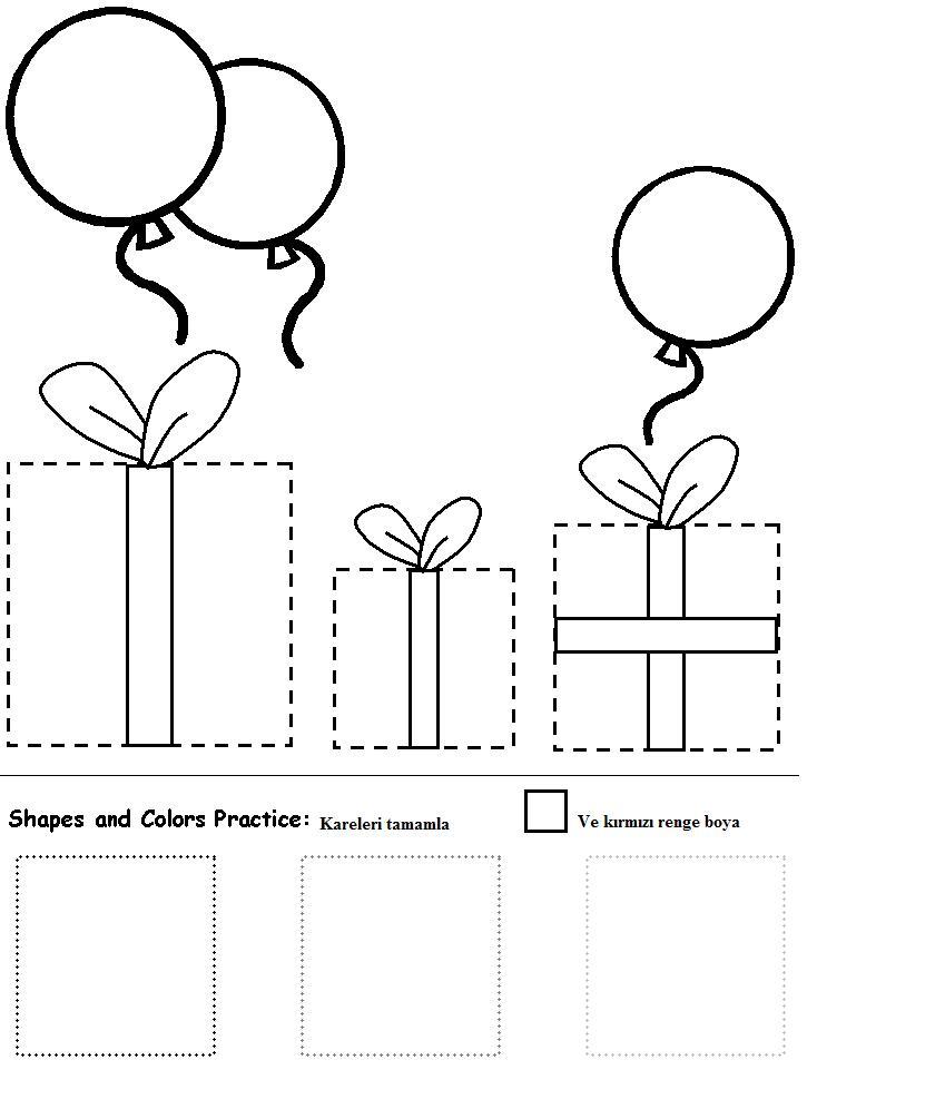Square Worksheet For Kindergarten. Square. Best Free