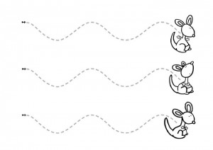 Curved lines prewriting traceable activities and