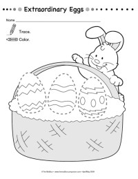 Free printable easter trace worksheet