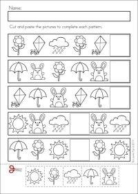 Pattern worksheet   Crafts and Worksheets for Preschool ...