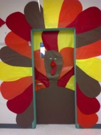 Thanksgiving day door decoration idea | Crafts and ...