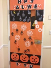 Halloween door decoration idea | Crafts and Worksheets for ...